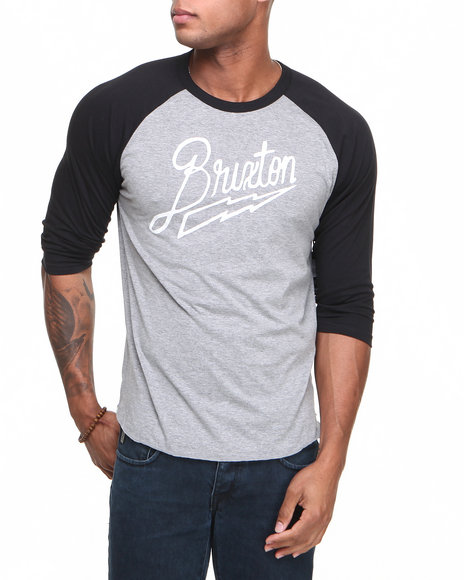 Brixton Men Charge 34 Sleeve Tee Black XLarge