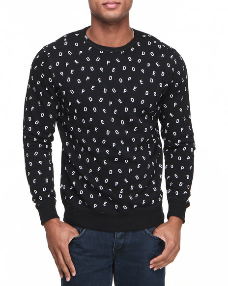 Dope - Men Black Dope Boy Crewneck Sweatshirt
