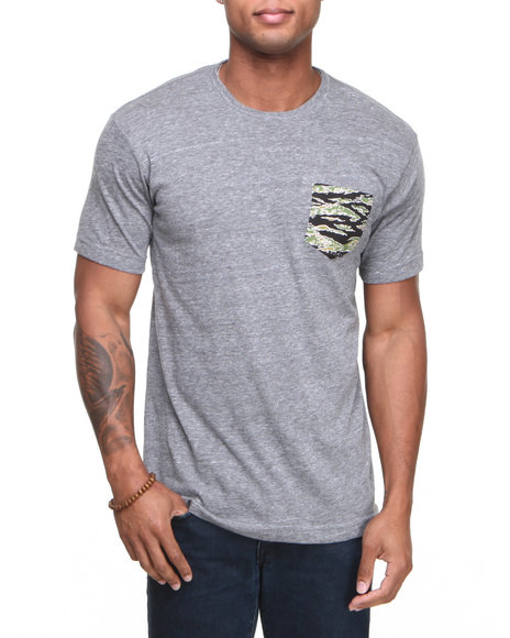 DC Shoes Grey Rd Camo Pocket Tee