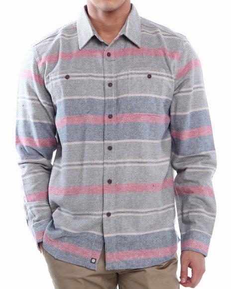 Element Indigo Blanket Brushed Flannel L/S Button-Down