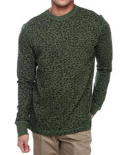 Men - Leopard L/S Printed Crew Thermal