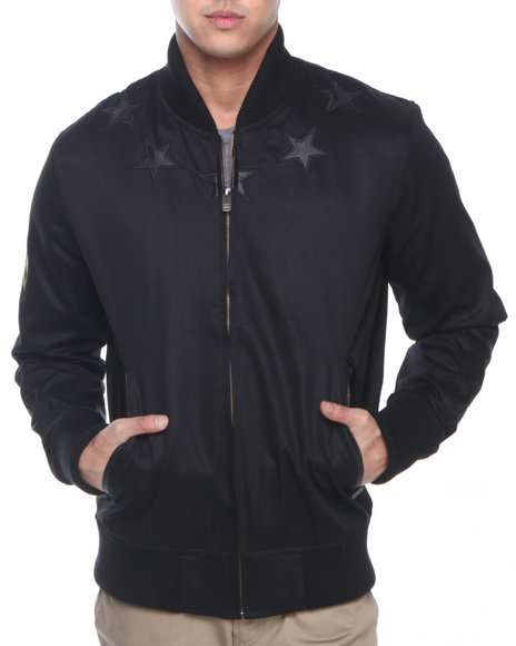 Hudson NYC Black Rock Star Cotton Twill Jacket