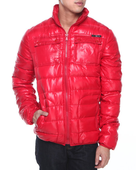 Enyce - Men Red Yukon Quilted Padding Jacket - $20.99