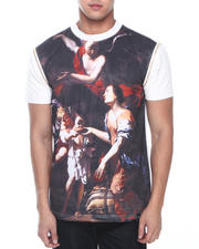 Men - Merciful Zip Off Faux Leather Sleeve Tee