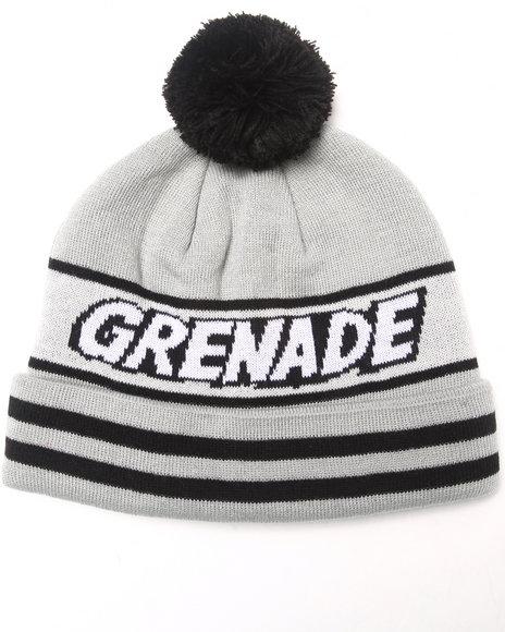 Grenade Comic Pom Beanie Grey