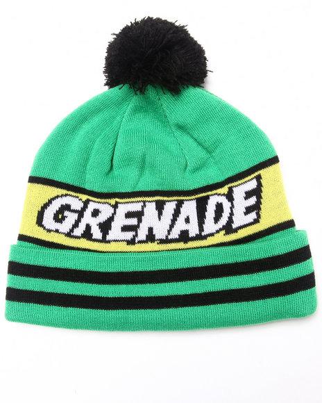 Grenade Comic Pom Beanie Green