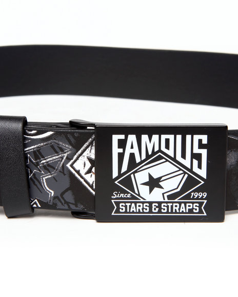 Famous Stars & Straps Black The Wall Belt