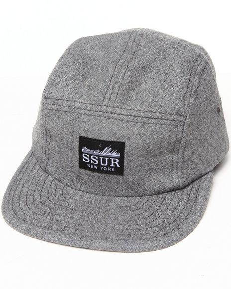 Ssur Ssur Standard Wool 5-Panel Camp Cap Grey