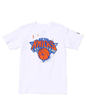 NBA MLB NFL Gear - NEW YORK KNICKS STENCIL TEE (8-20)