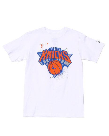 NBA MLB NFL Gear Boys White New York Knicks Stencil Tee (8-20)