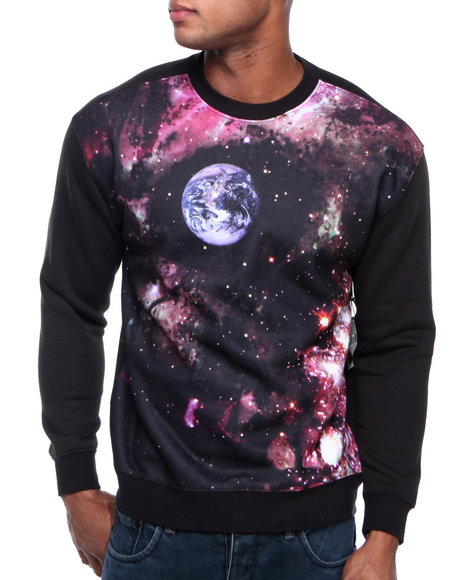L.A.T.H.C. - Men Multi Skull Space Crewneck Sweatshirt