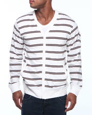 Cardigans - Striped Cardigan Sweater