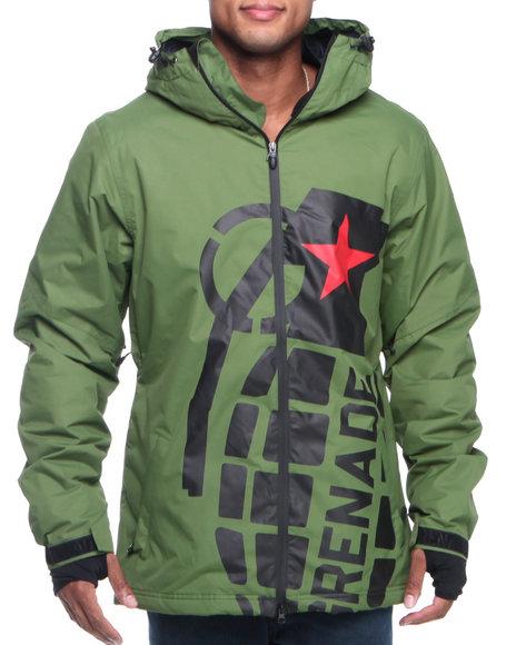 Grenade Green Exploiter Hooded Jacket