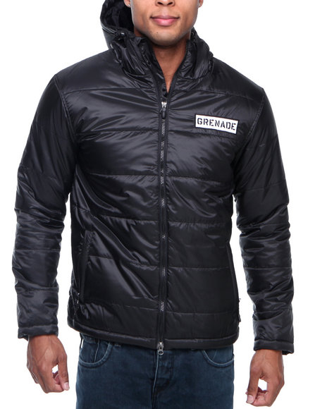 Grenade - Men Black Standard Down Hooded Jacket
