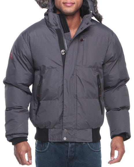 Buyers Picks - Men Charcoal Summit Puffer Jacket