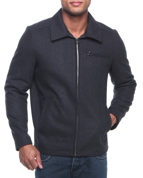 Levi's Charcoal Melton Wool Collar Jacket