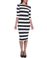 Cyber Monday Deals - STRIPED MIDI DRESS