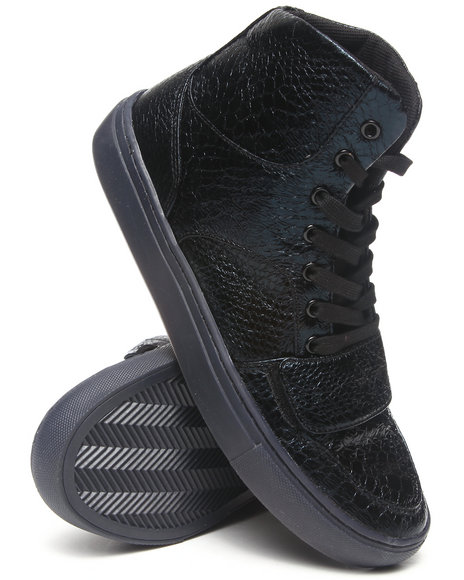Creative Recreation - Men Black Cesario X Black Faux Snakeskin Hightop Sneaker
