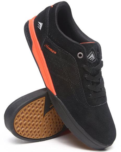 Emerica Black,Orange The Herman G6 Smooth Suede Sneakers