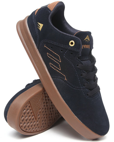 Emerica Navy The Reynolds Low Smooth Suede Sneakers