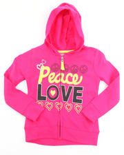 Holiday Shop - Girls - PEACE & LOVE HOODY (4-6X)