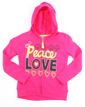 La Galleria - PEACE & LOVE HOODY (4-6X)