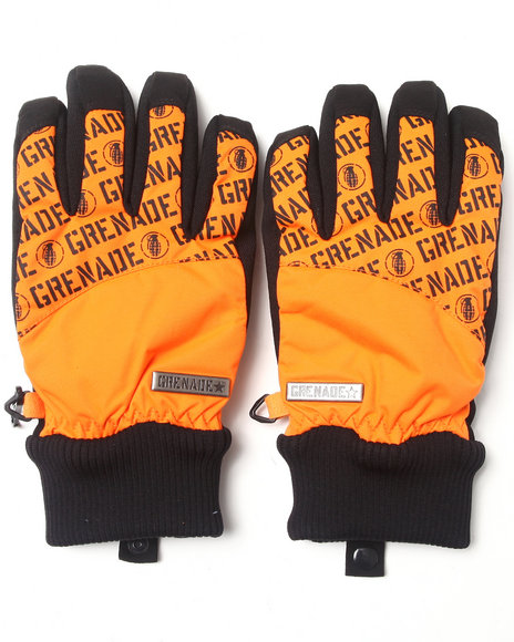 Grenade - Men Orange Huey Gloves