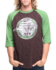 Men - 3/4 Sleeve Raglan Cheetah Tee