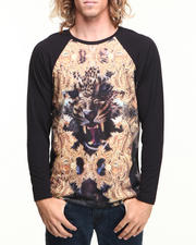 T-Shirts - Gold Tiger Sublimation Raglan Shirt