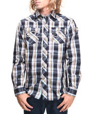 Pelle Pelle - Vintage Faded Plaid Button Down Shirt