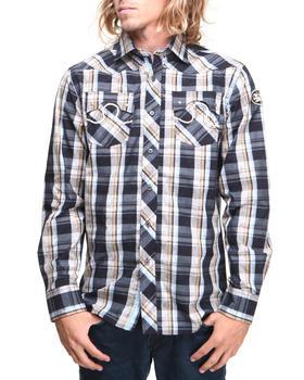 Pelle Pelle - Vintage Faded Plaid Button Down Shirt