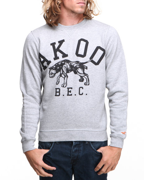 AKOO Grey Healthy Crewneck Sweatshirt