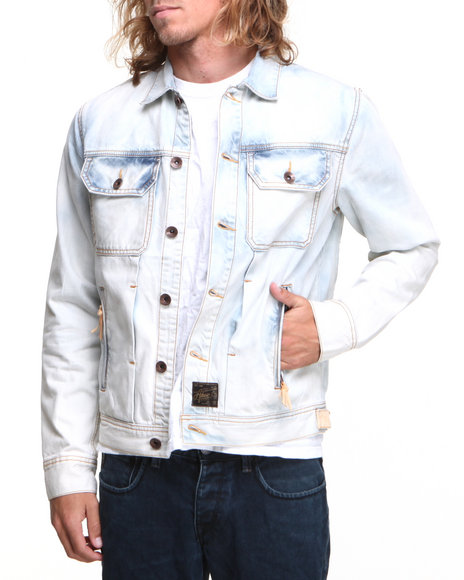AKOO Light Blue Ghost Denim Jacket
