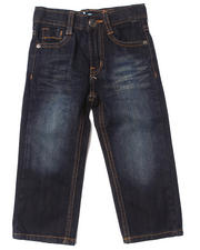 Akademiks - EMBROIDERED FLAP POCKET JEANS (2T-4T)