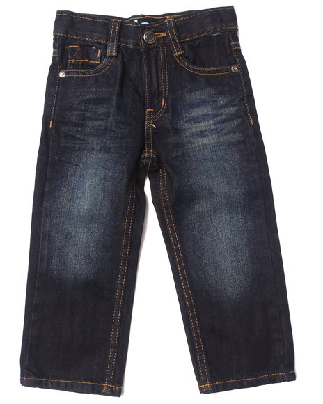 Akademiks - Boys Vintage Wash Embroidered Flap Pocket Jeans (2T-4T)
