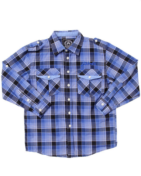 Akademiks Light Blue Button-Downs