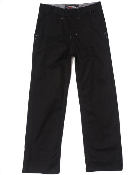 Akademiks Boys Black Chino Pants (8-20)