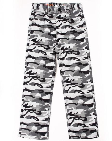 Akademiks Boys Black Camo Twill Pants (8-20)