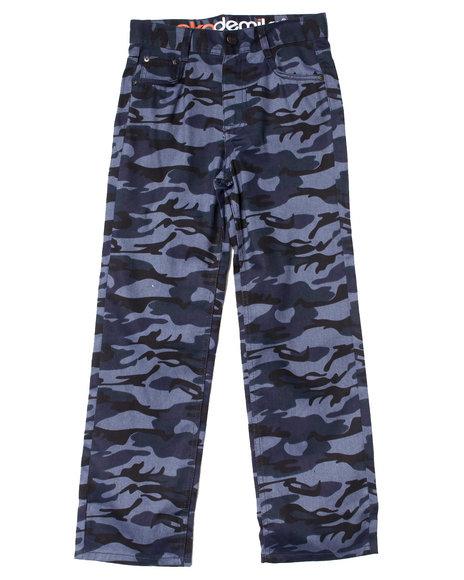 Akademiks - Boys Blue Camo Twill Pants (8-20)