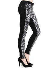 Women - Leopard Front Solid Back 2-Face Ponte Jegging