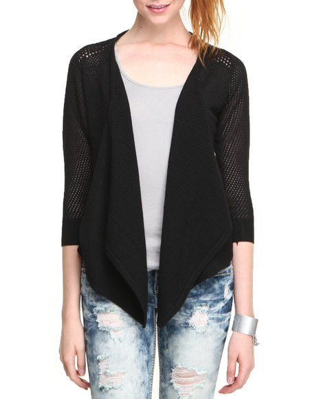 carter duster cardigan w/mesh back