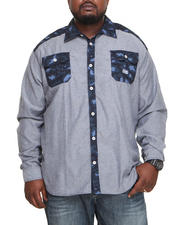 Men - Omar Leopard Print Chambray Button Down Shirt (B&T)