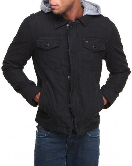 Levi's Black Hooded Trucker Jacket