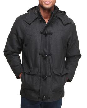 Basic Essentials - Wool Toggle Hooded Coat