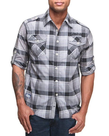 Men Plaid Button Down Shirt