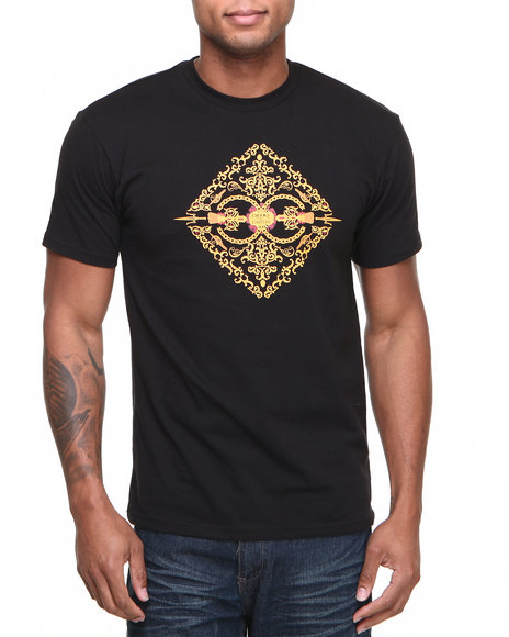 Crooks & Castles - Men Black Sultan T-Shirt