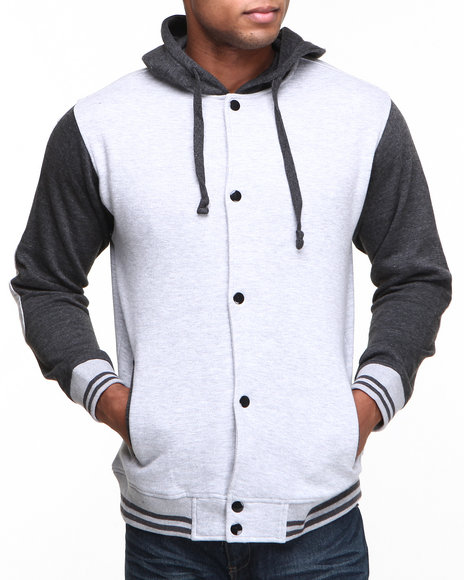 Best price basic essentials men elbow patch varsity jacket hoodie basic essentials men elbow patch varsity jacket hoodie grey x large maxwellsz