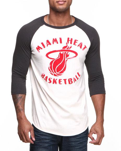 Junk Food Black Miami Heat Rebound Raglan Shirt