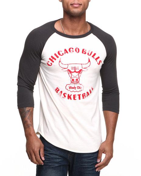 Junk Food Off White Chicago Bulls Rebound Raglan Shirt