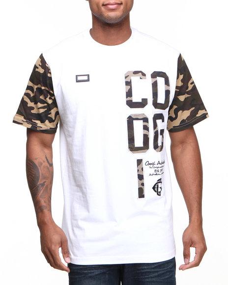 COOGI - Men White Coogi Camo Military Tee